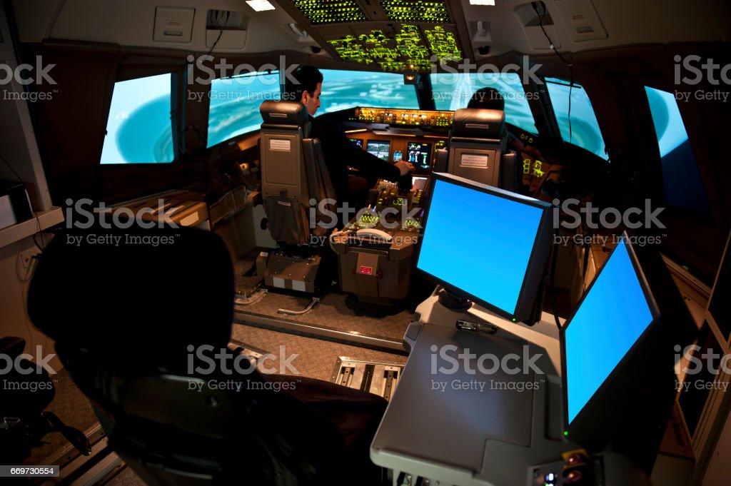 Flight Simulator stock photo