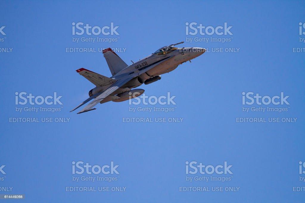 US NAVY F-18 flight Squadron stock photo