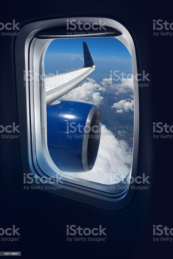 Flight travel royalty-free stock photo
