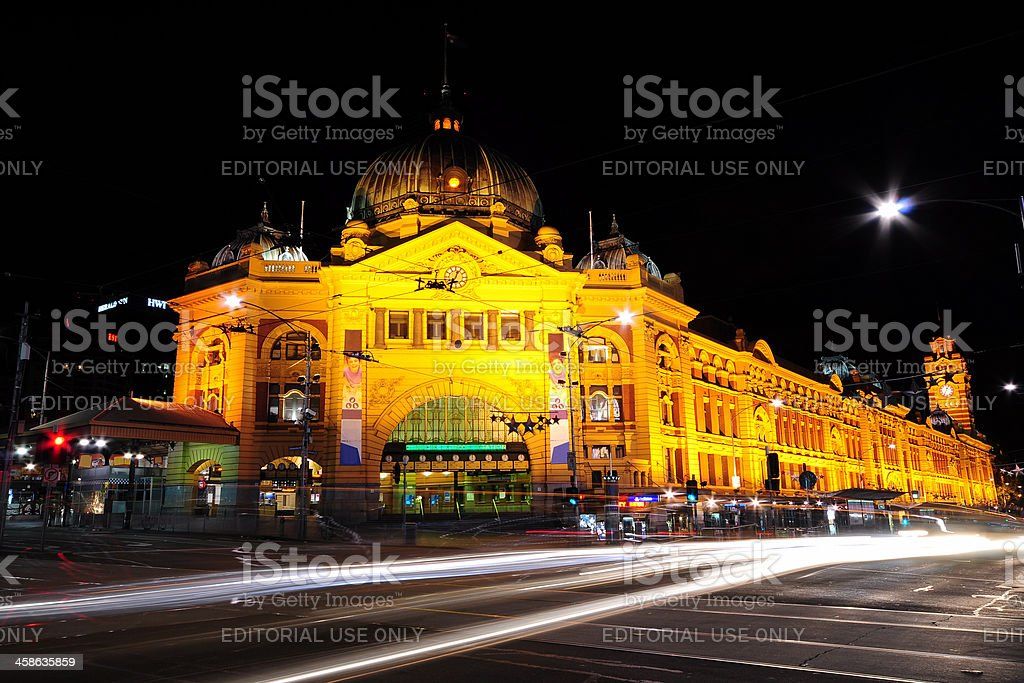 Flinder Street Station Melbourne Australia royalty-free stock photo