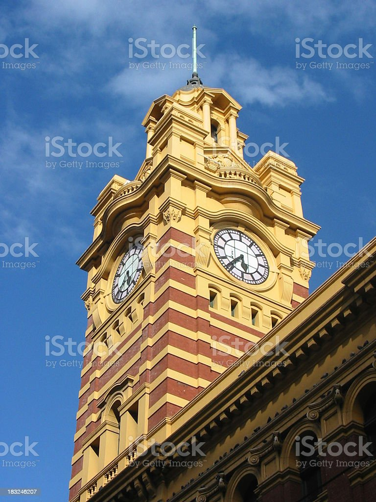 Flinder Street Station royalty-free stock photo