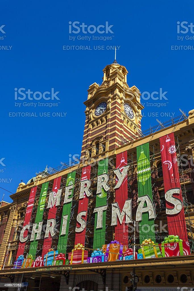 Flinders St Station, Melbourne stock photo