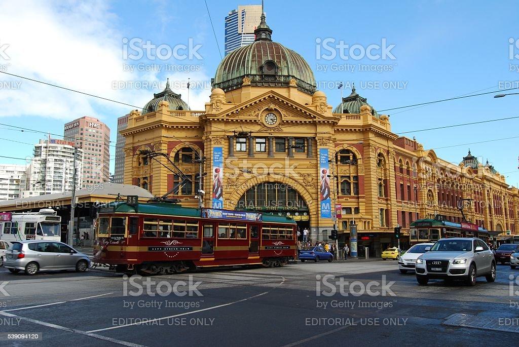 Flinders St Station - Melbourne stock photo