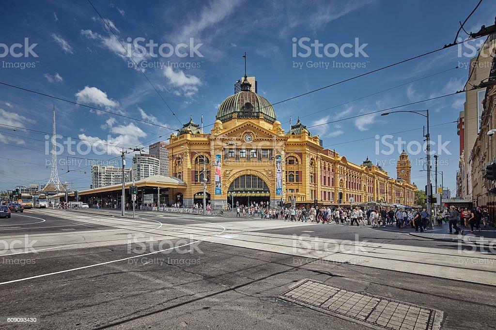 Flinders Station stock photo