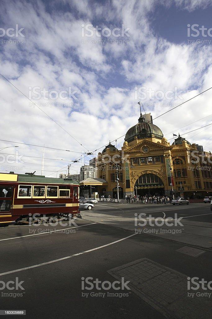 Flinders Street royalty-free stock photo