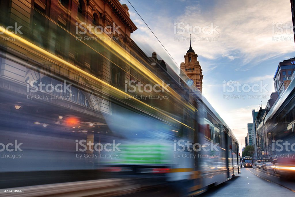 Flinders Street stock photo