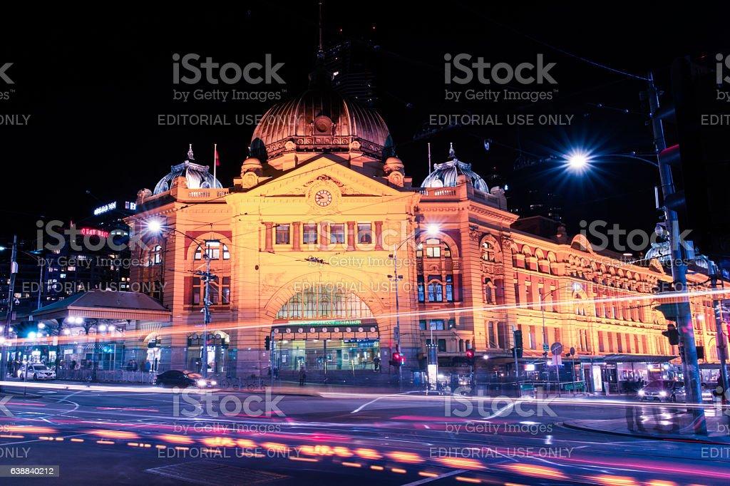 Flinders street railway stock photo