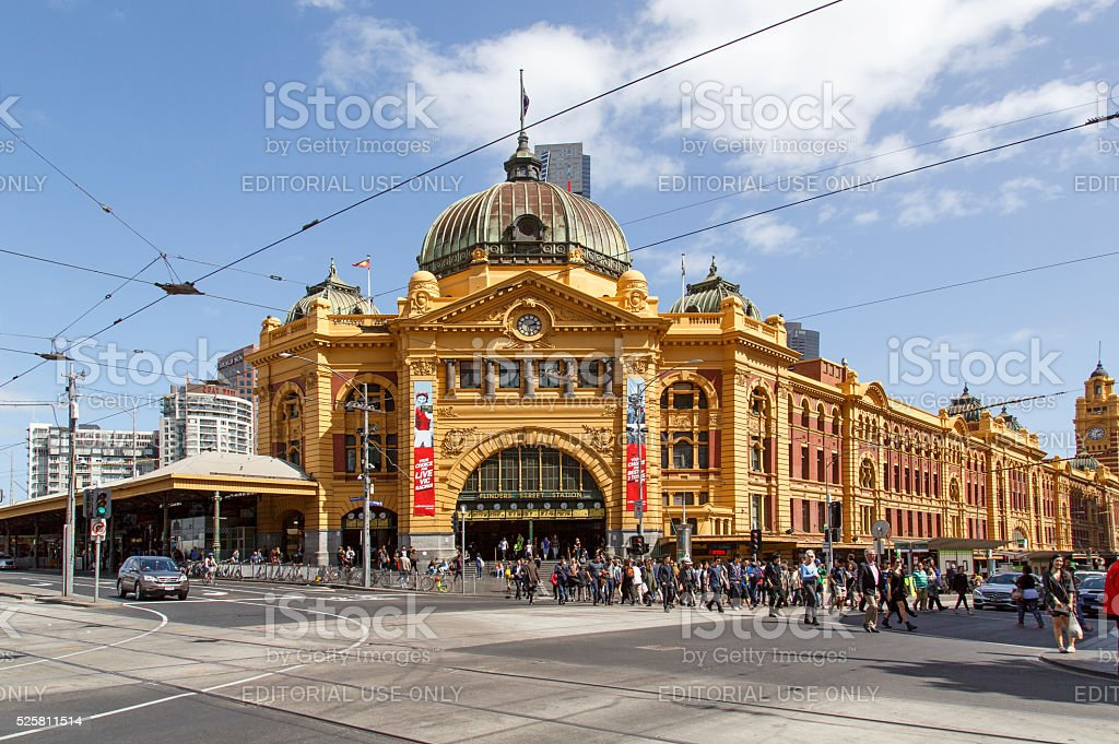 Flinders Street Staion stock photo