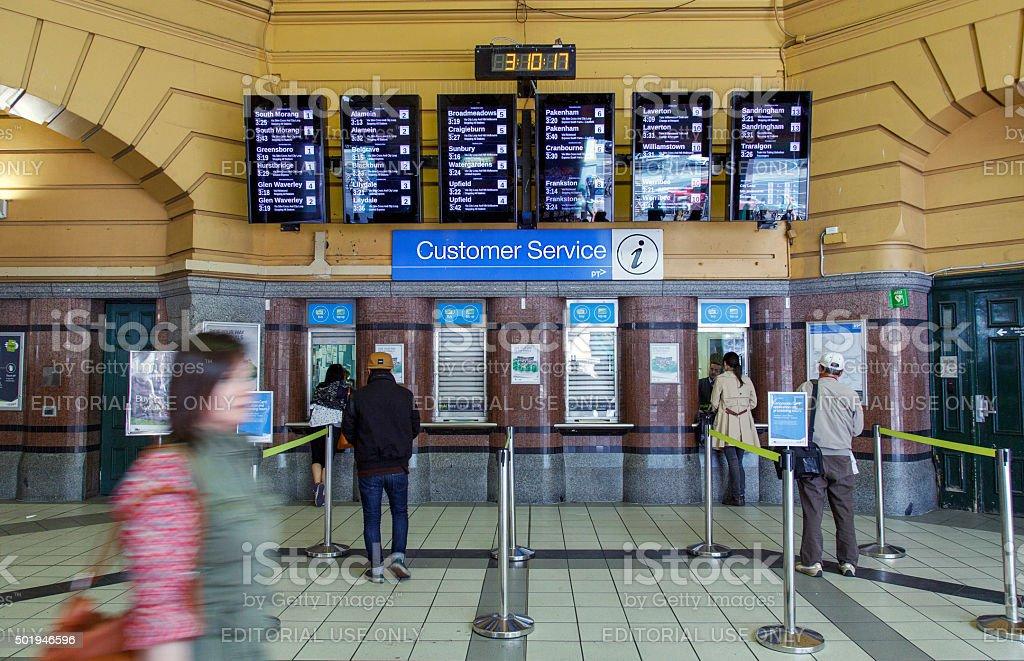 Flinders Street Station - Customer Service stock photo
