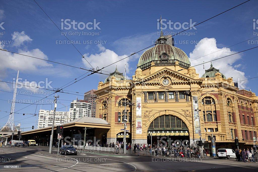 Flinders Street Station in Melbourne Australia stock photo