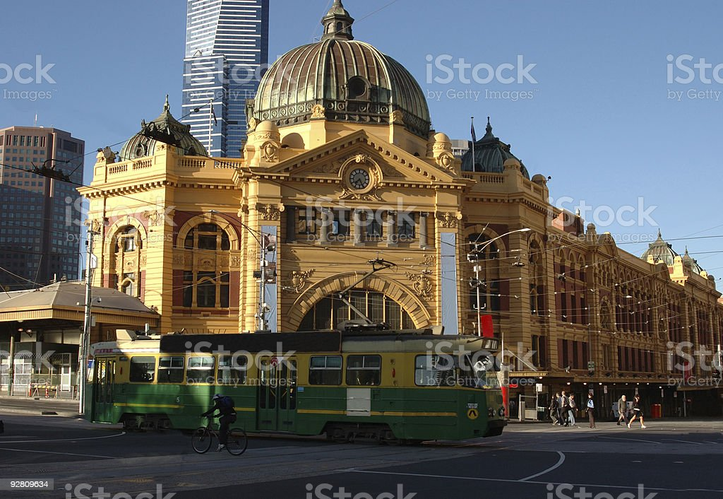 Flinders Street Station in Melbourne Australia royalty-free stock photo