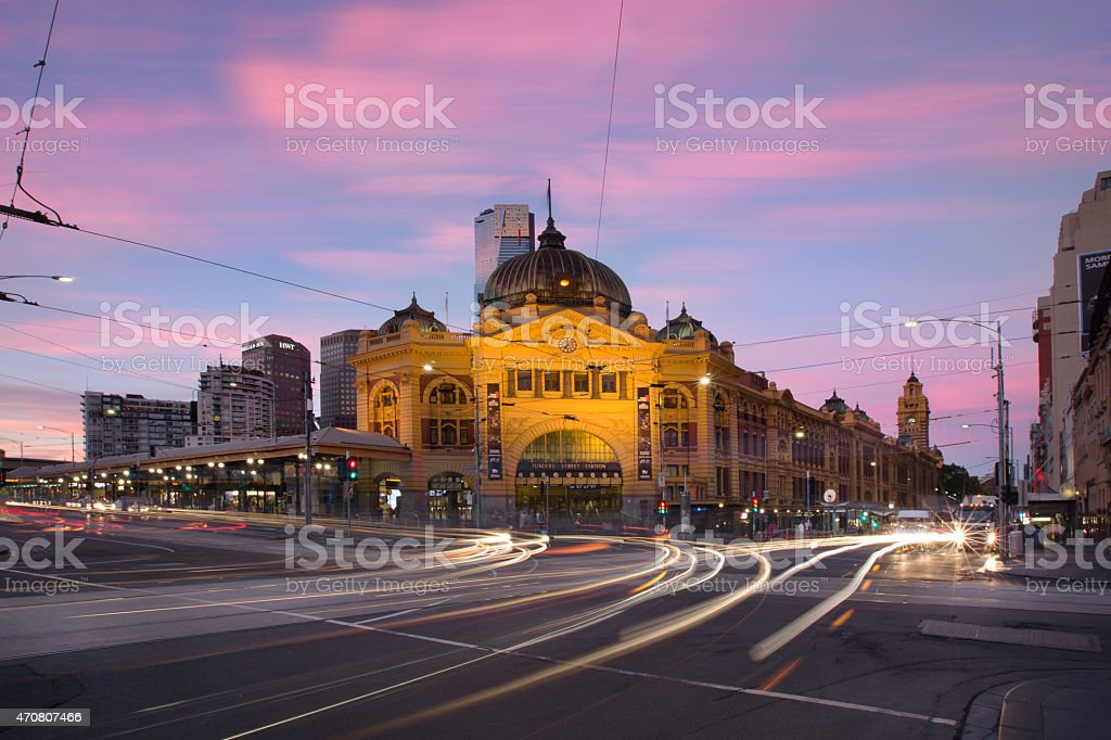 Flinders Street Station Melbourne stock photo