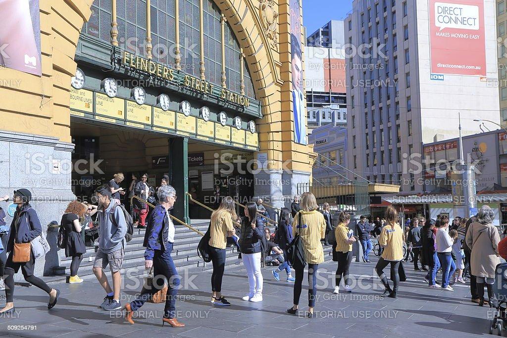 Flinders Street Station Melbourne stock photo