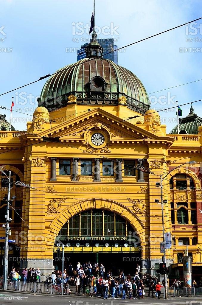 Flinders Street Station, Melbourne stock photo