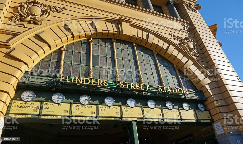 Flinders Street Station stock photo