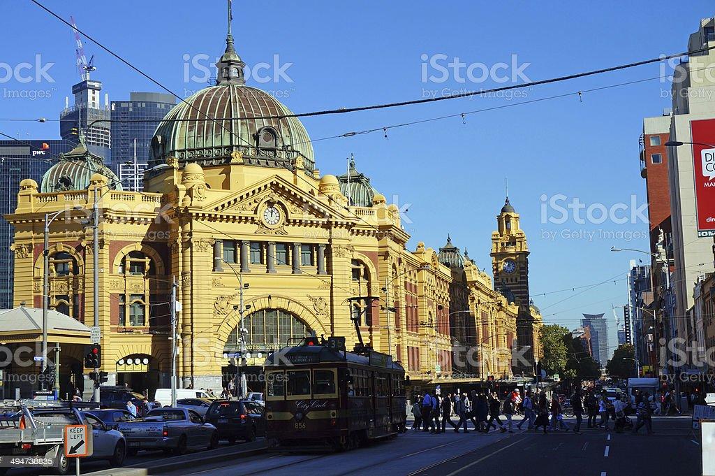 Flinders Street Station (Melbourne, Australia) stock photo