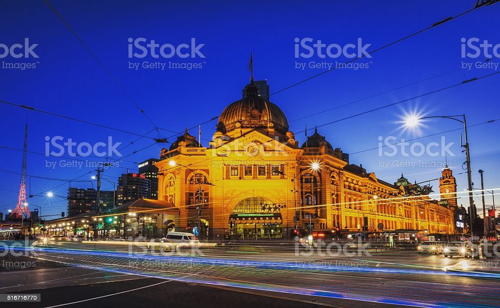 Flinders Street Station stock photo