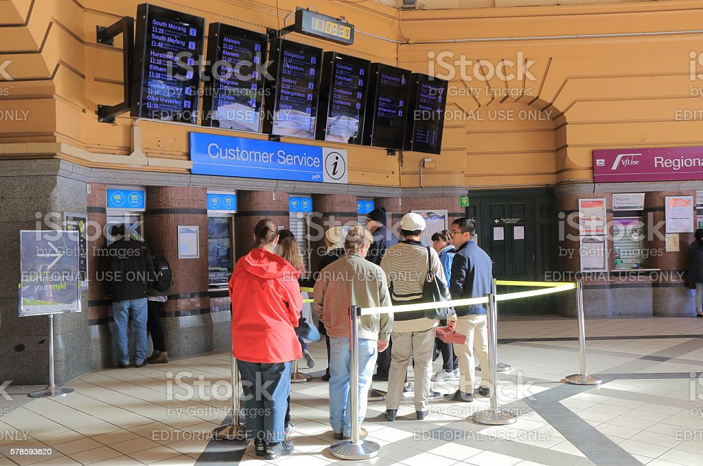 Flinders street train station Melbourne Australia stock photo