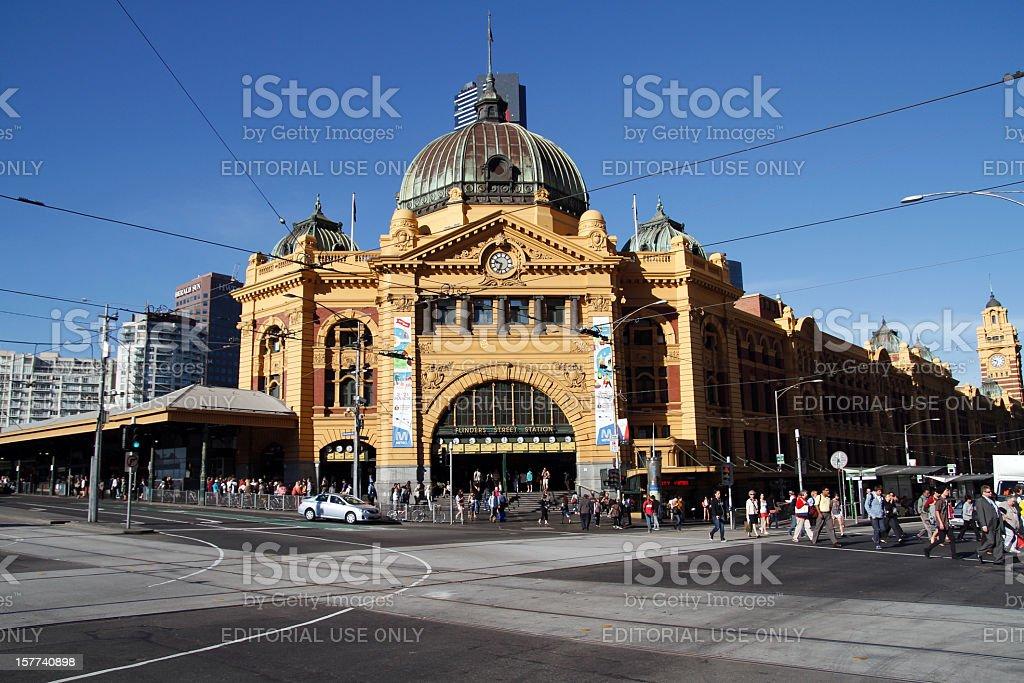 Flinders Train Station stock photo