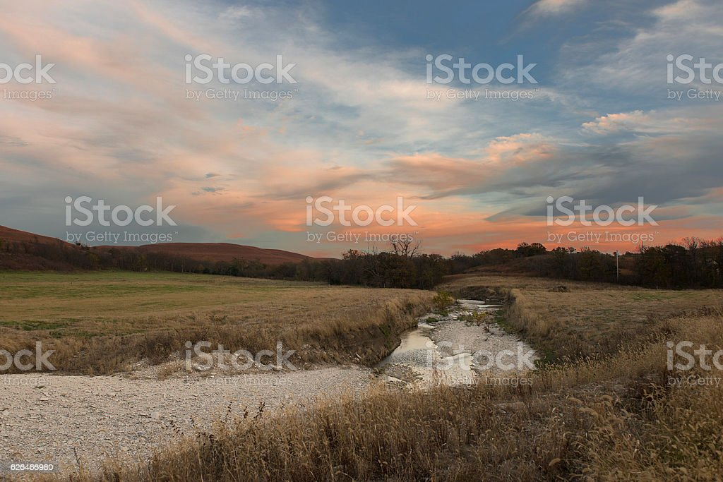 Flint Hills Creek stock photo