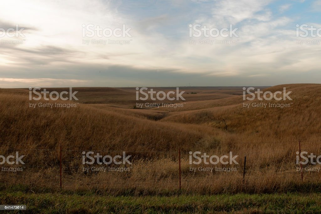 Flint Hills Fence stock photo