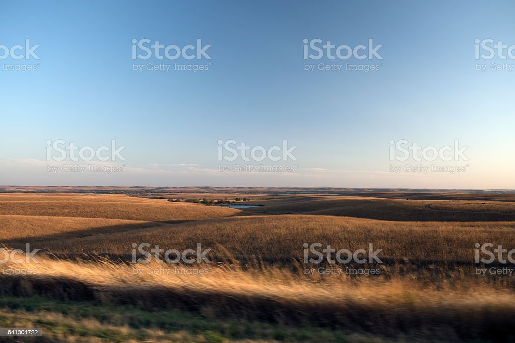 Flint Hills Pond stock photo