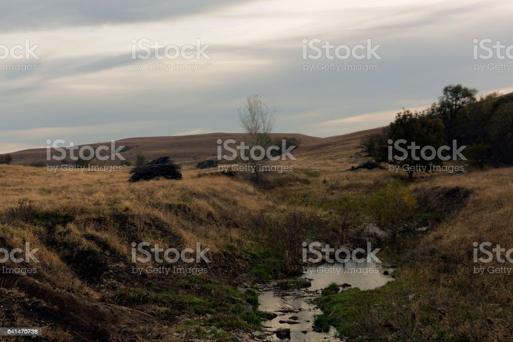 Flint Hills Stream stock photo
