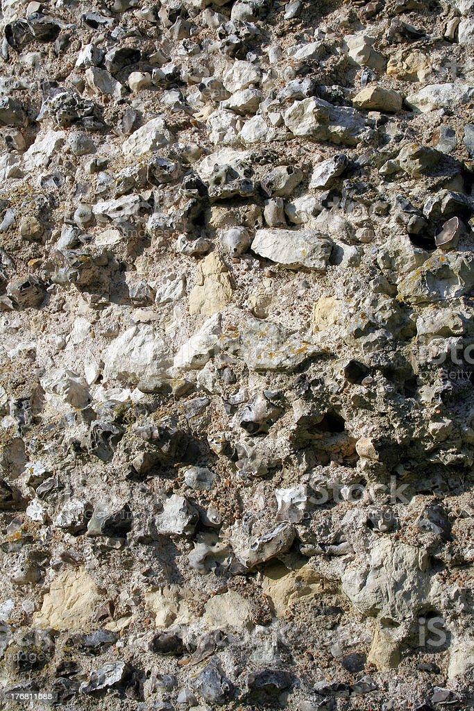 Flint wall stock photo