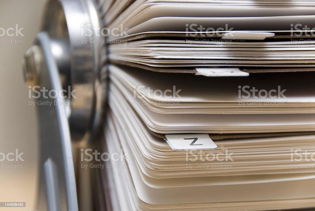 flip address card file stock photo