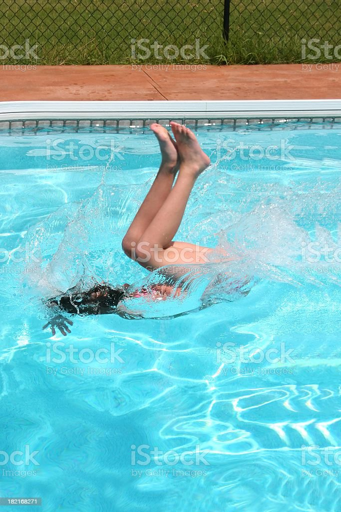 Flip and splash stock photo