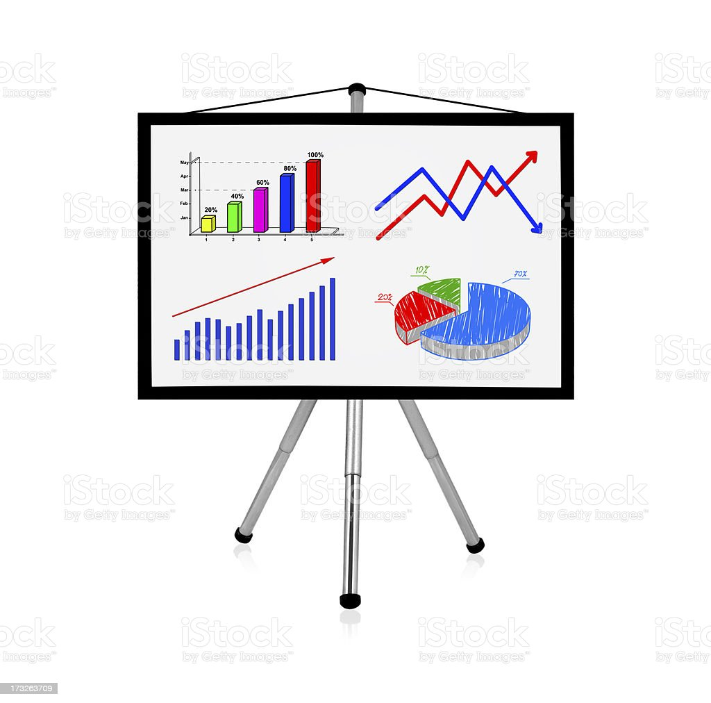 flip chart with charts royalty-free stock photo