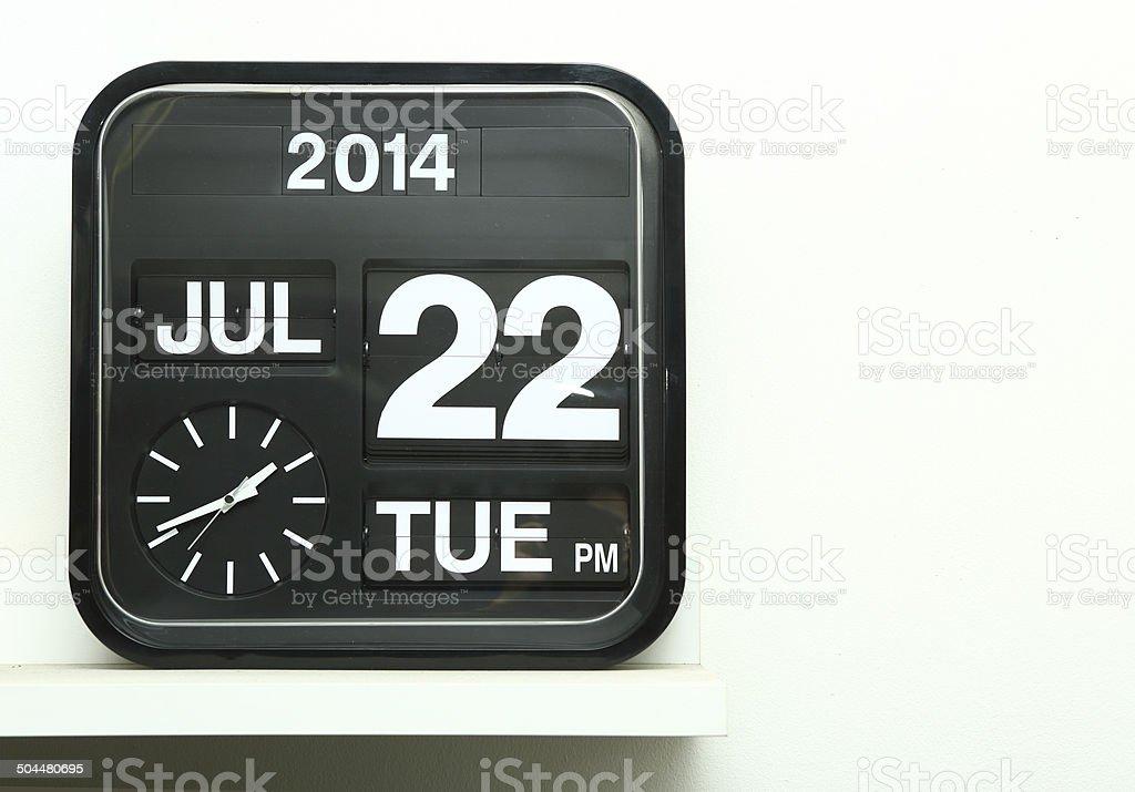 Flip clock stock photo