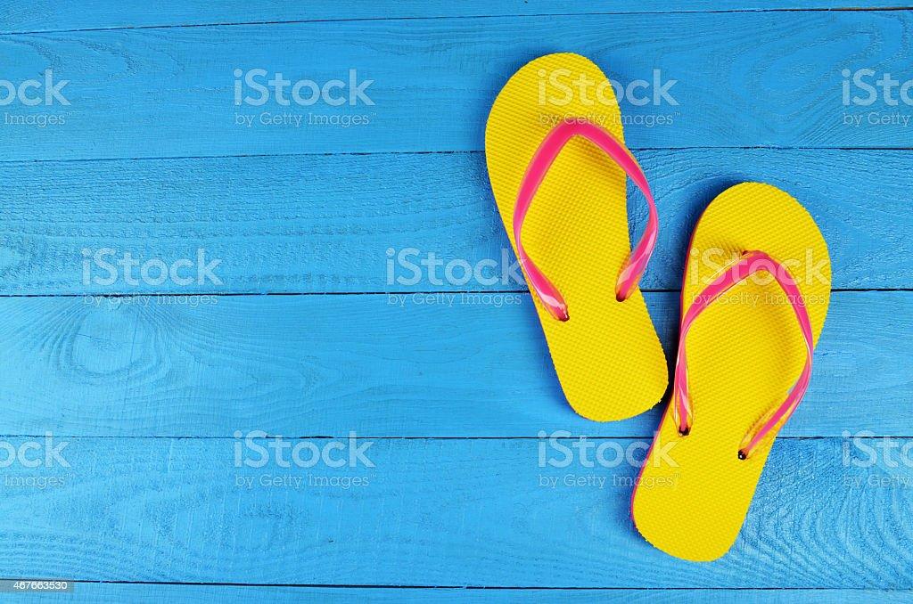 Flip Flops Yellow stock photo