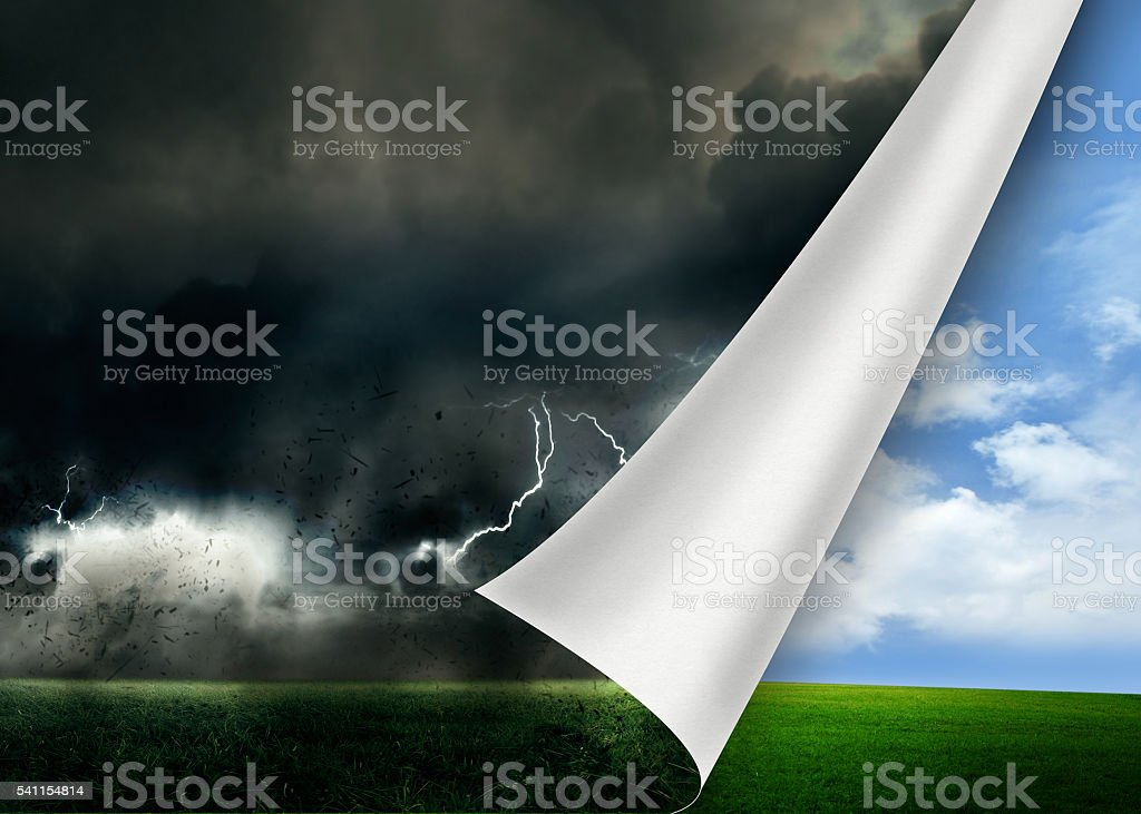 Flip to a new positive direction stock photo