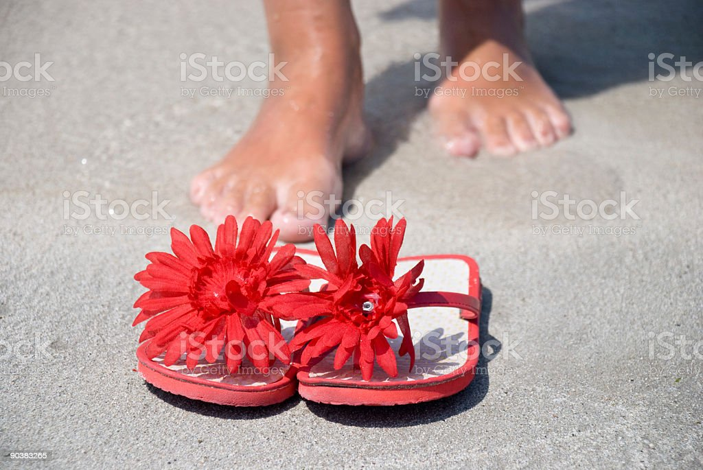 flip-flop 10 royalty-free stock photo