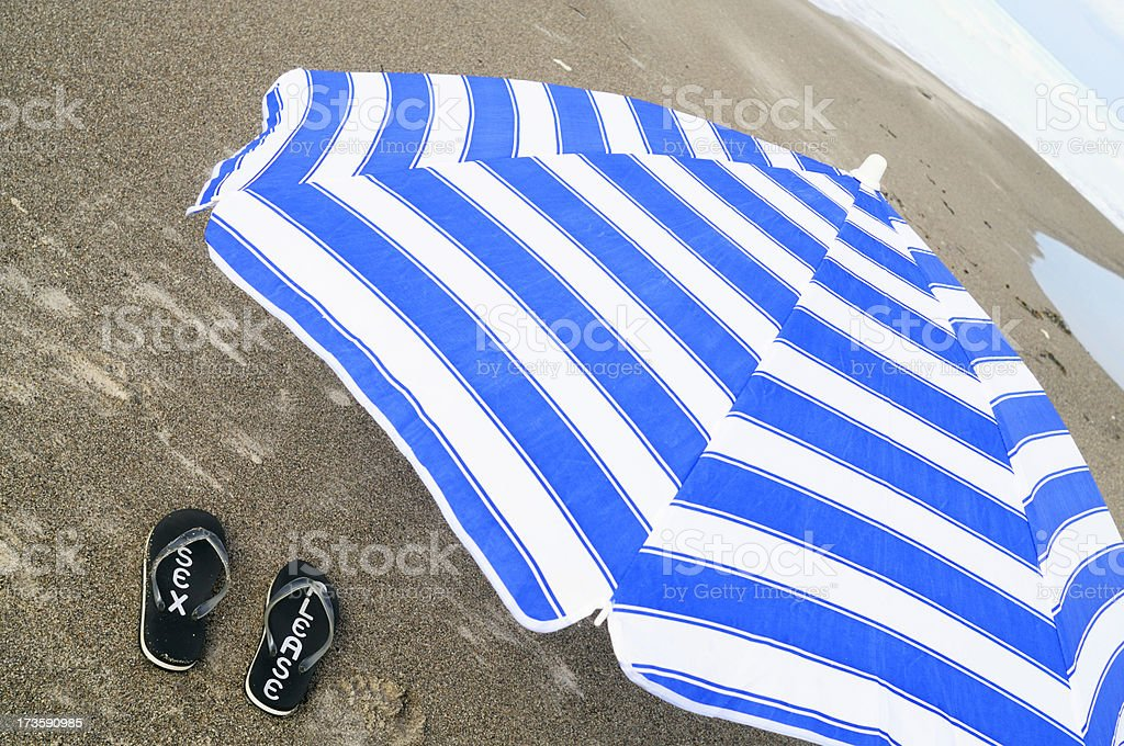 Flip-flop at the Beach. royalty-free stock photo