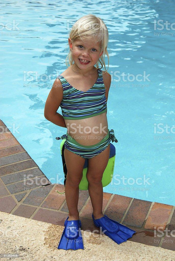 Schwimmflosse Mädchen Lizenzfreies stock-foto