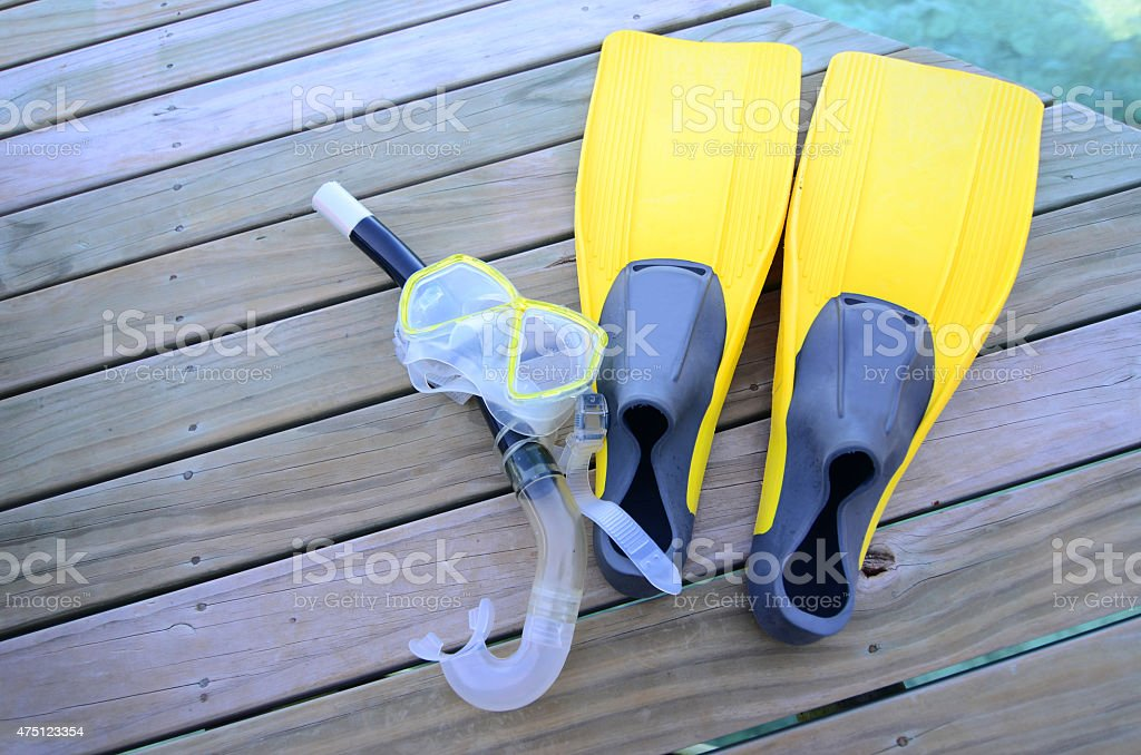 Flippers and Snorkel stock photo