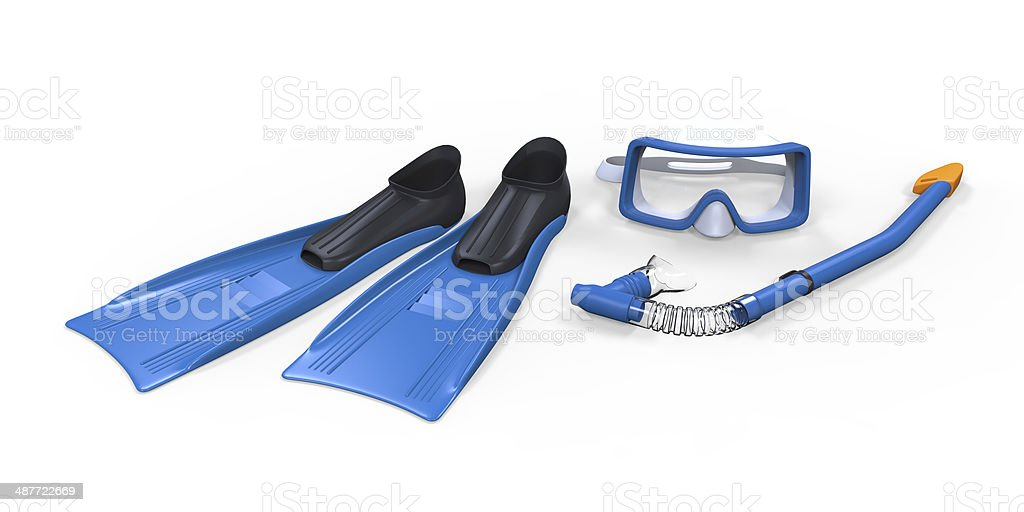 Flippers, Glasses and Snorkel stock photo