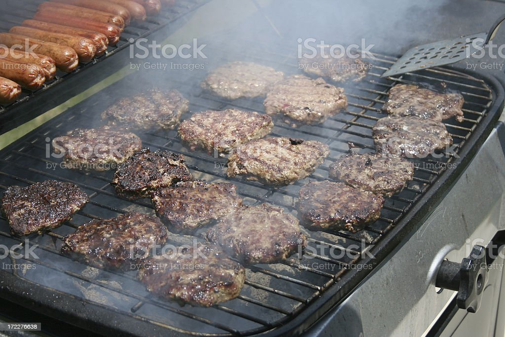 Flipping Burgers stock photo