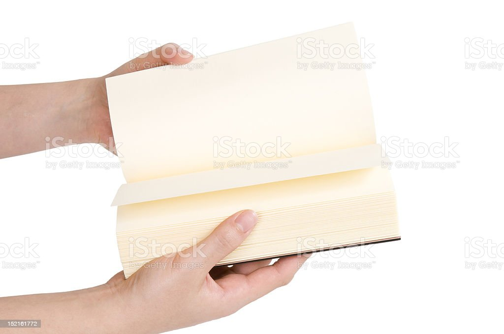 Flipping Empty Pages royalty-free stock photo