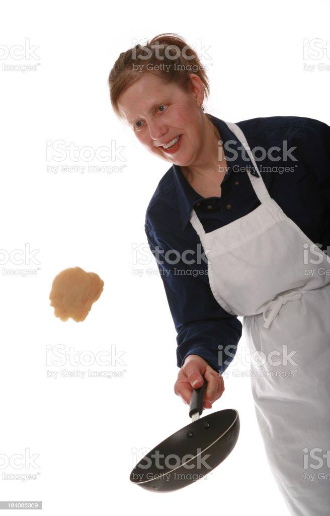 Flipping Flap-Jacks stock photo