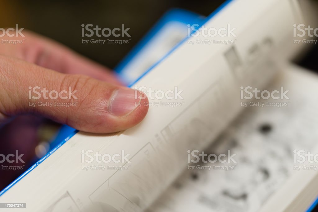 Flipping Pages stock photo