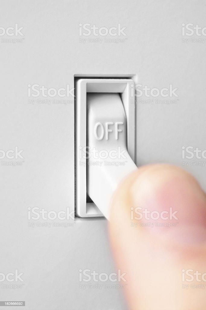 Flipping the Switch - OFF royalty-free stock photo
