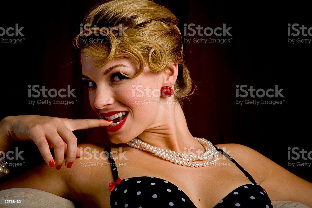 Flirt stock photo