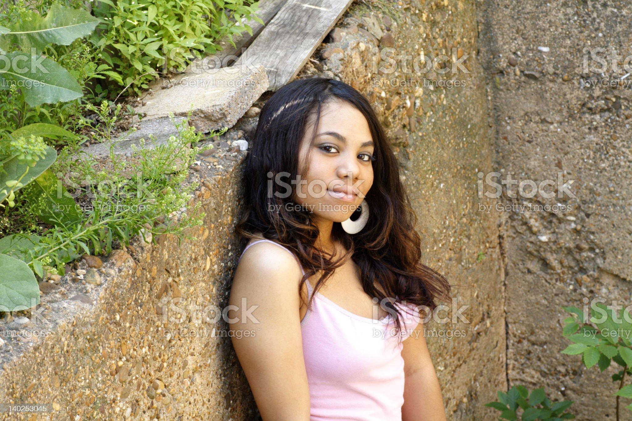 Flirtation royalty-free stock photo