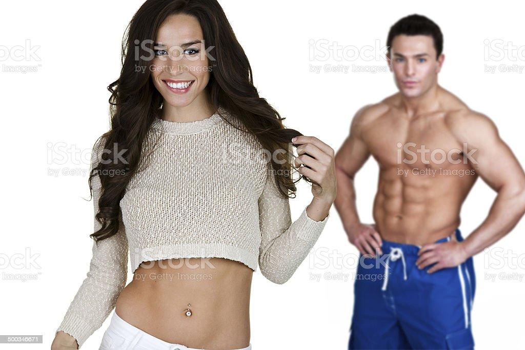 Flirtatious woman royalty-free stock photo