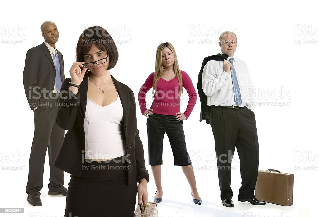 Flirting business woman with colleagues royalty-free stock photo