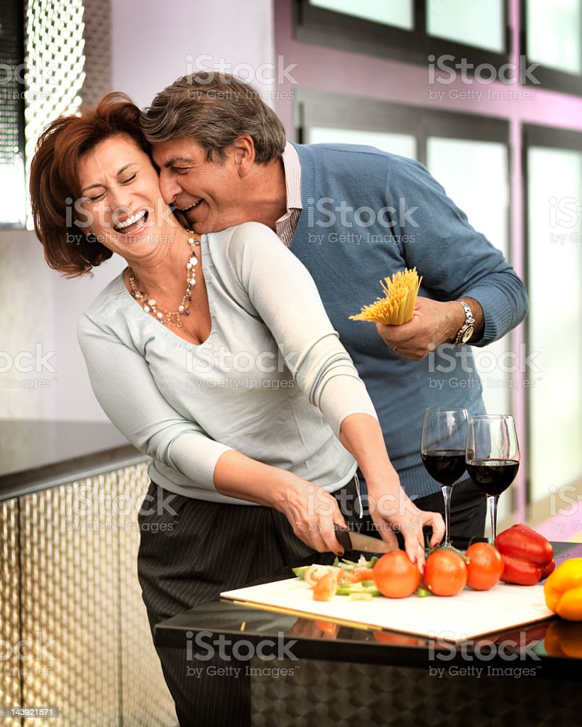Flirting Couple royalty-free stock photo
