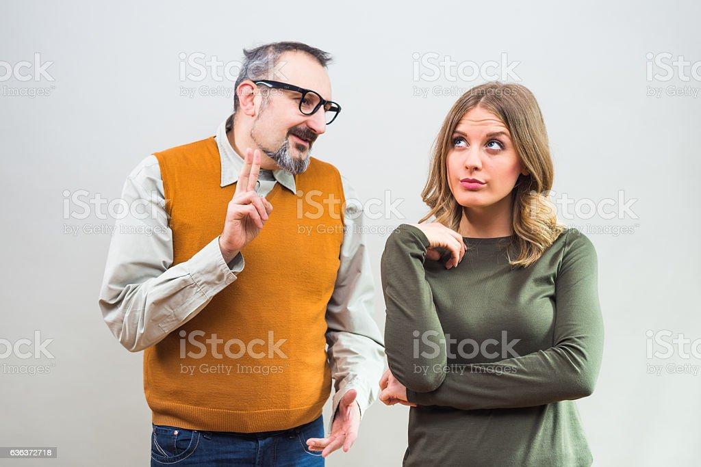 Flirting fail stock photo